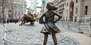 Fearless Girl and Wall Street Bull