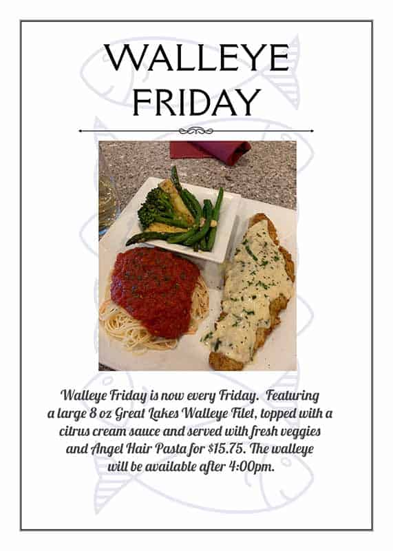 Twisted Italian Walleye Friday special