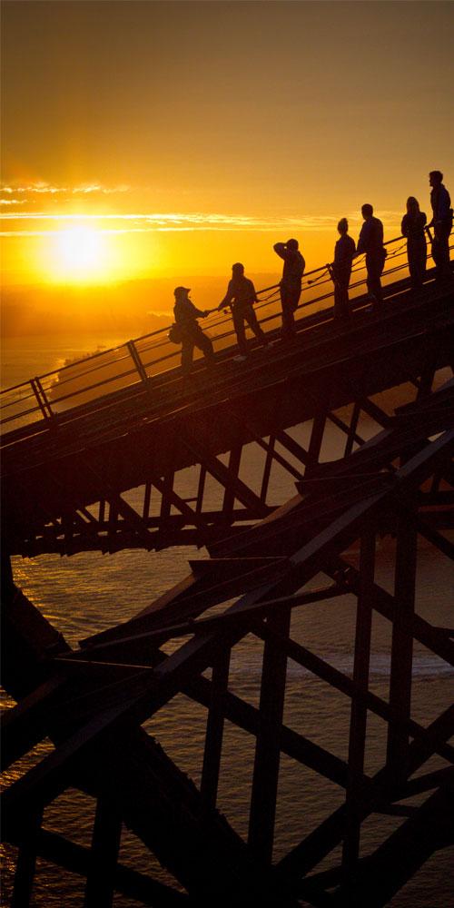 Sydney BridgeClimb at sunrise