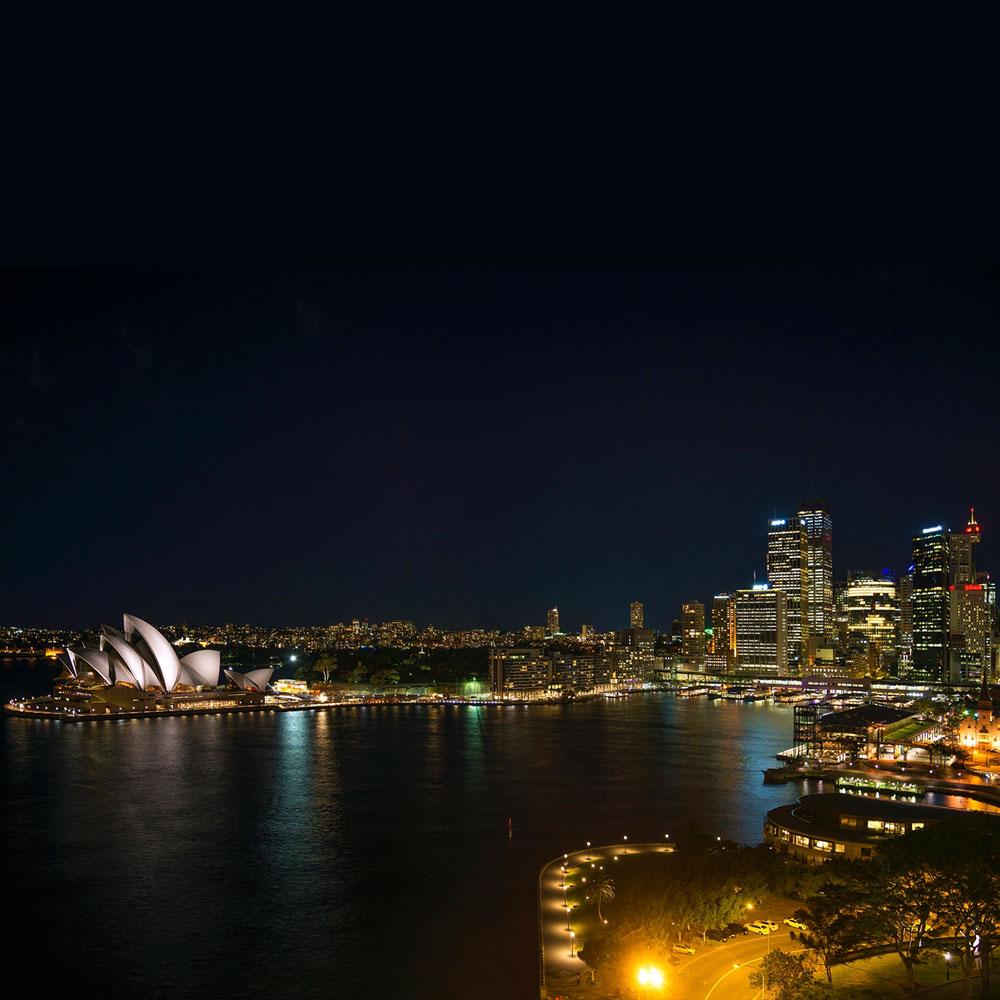 Sydney Harbour City views rooftop