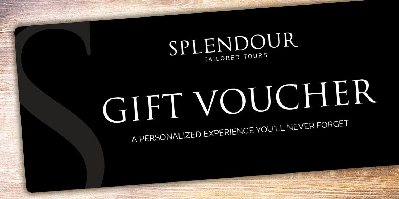 splendour gift voucher certificate experience