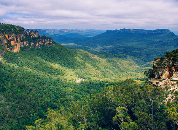 View in the Megalong Valley in the Blue Mountains on a private tour