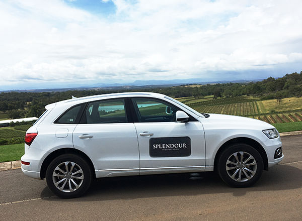 A private LUXE SUV for your full day tour of the Hunter Valley