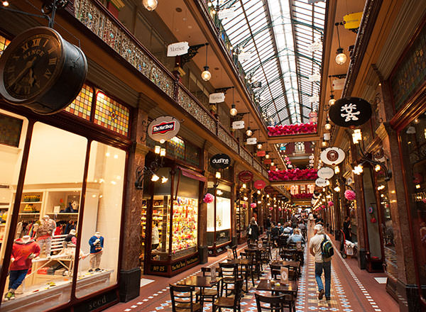 Sydney 19th Century shopping arcades are a shoppers delight on the Sydney Overnight Private Tour
