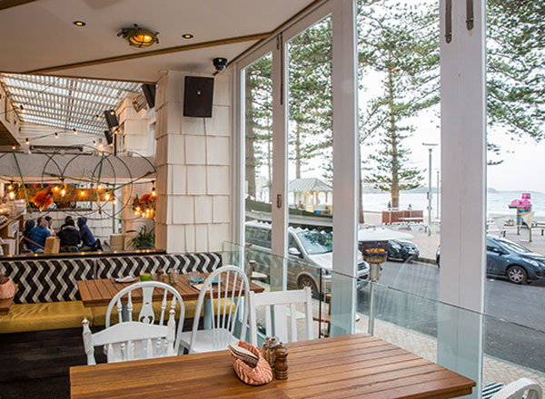 At Manly Wine you get gourmet seafood with ocean views of Manly on your Sydney private day tour