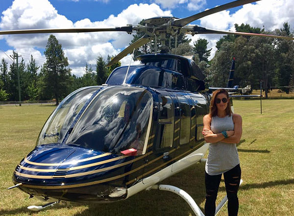 An image of your private helicopter charter on your Sydney whale watching tour travel up from Sydney to Palm Beach and back