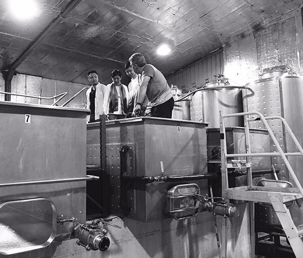 An image of wine tasting out of the barrel at Piggs Peake in the Hunter Valley