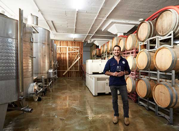 An image of Alex from the Urban Winery as seen on your behind the scenes beer, wine and gin private tour