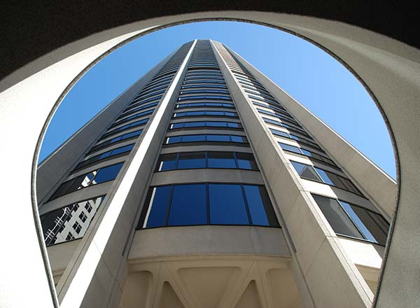 An image of the unique architecture at Australia Square on the Private Architectural Tour of Sydney