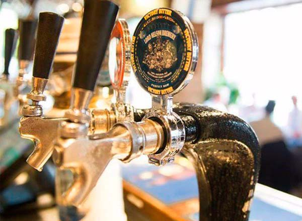 An image of Lord Nelson beer on tap at the Lord Nelson Pub and Brewery on your foodie Taste of Sydney private tour