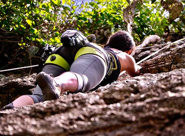 An adventure day rock climbing experience in the Blue Mountains private tour