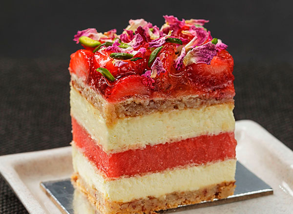 An image of the infamous Strawberry Watermelon Cake from Black Star Pastry as seen on your Sydney foodie private tour