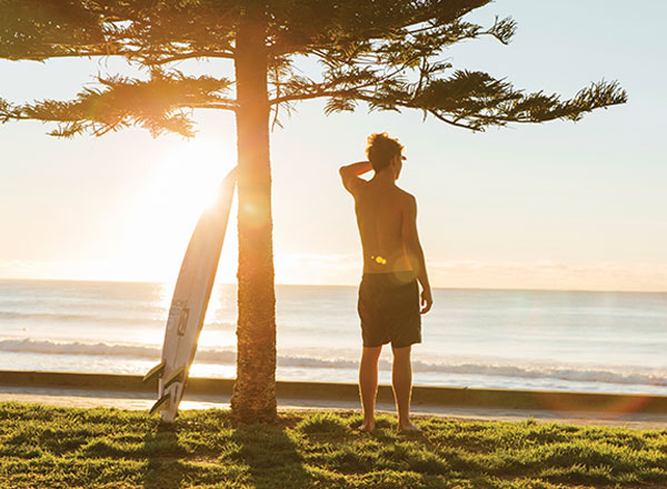 An image of the amazing Manly Beach as seen on your North Shore Road Trip tour