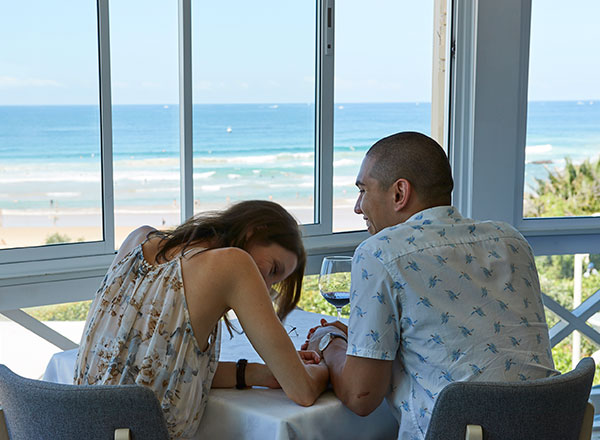 An image of a couple dining at Pilu on Sydney's north coast as seen on your North Shore Road Trip tour