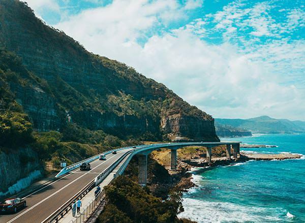 Sea cliff bridge en route to the Royal National Park Sydney