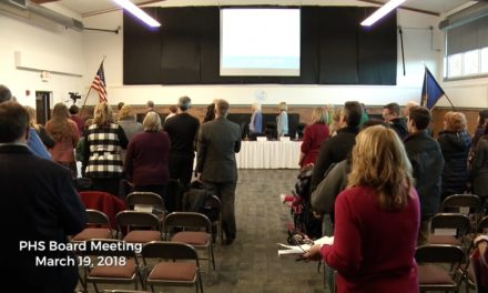 March 19, 2018 – PHS Board of Education Meeting