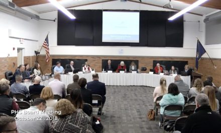 PHS Board of Education Meeting – October 22, 2018