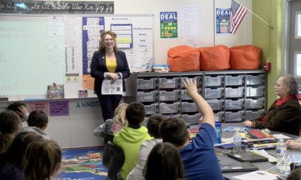 Jorja Baldwin visits Hannah Palmer's classroom – March 7, 2019