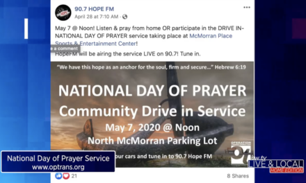 County's National Day of Prayer Moves to Parking Lot