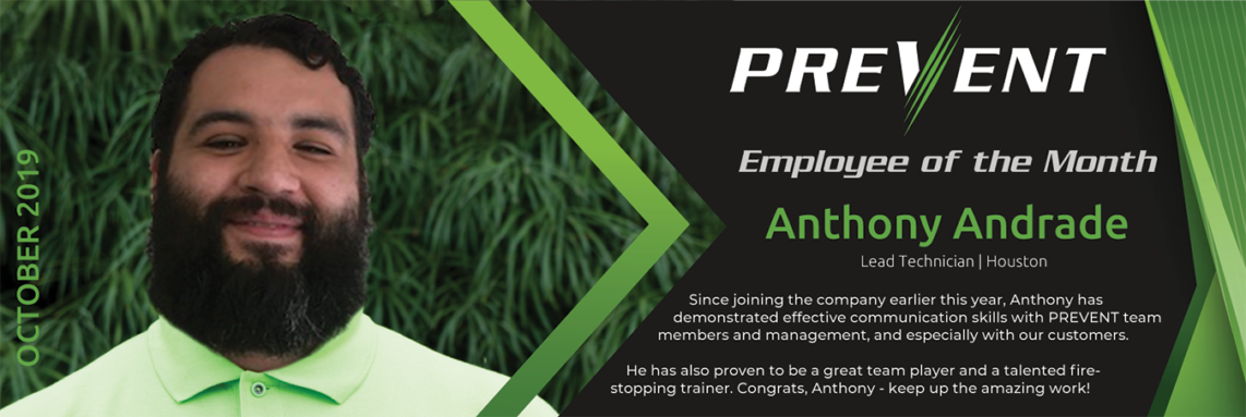 PREVENT-Fire Barrier Management- Anthony Andrade - Houston Office