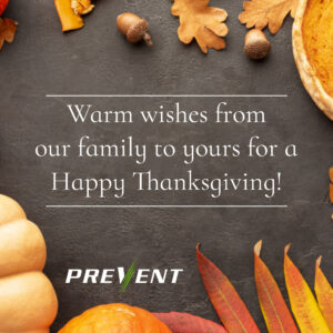 Thanksgiving Wishes from PREVENT 2019