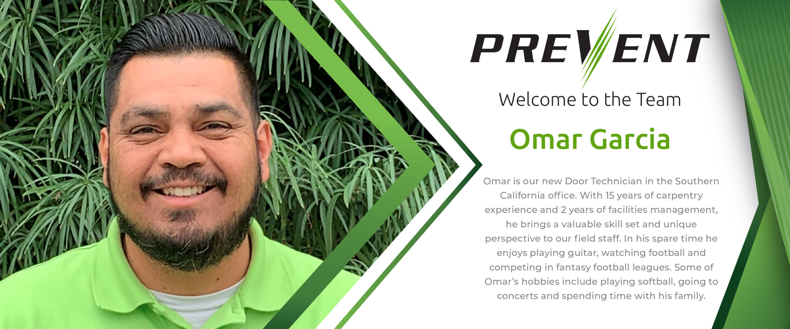 Fire Barrier Management- New Employee Omar Garcia
