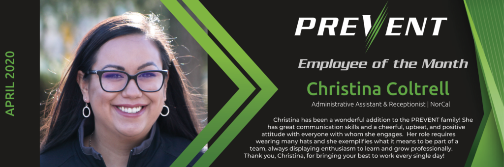 PREVENT Employees of the Month - April 2020 - Christina Coltrell