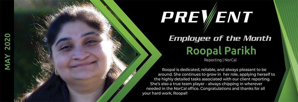 Roopal Parikh - PREVENT Reporting Team - NorCal
