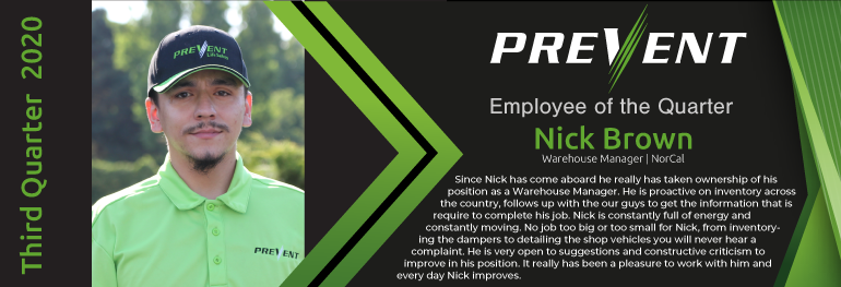 Nick Brown - Warehouse Manager