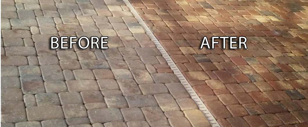 Paver Sealing Before and After