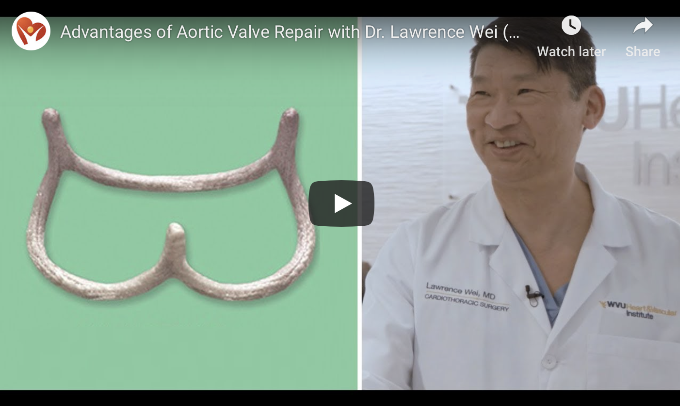 Advantages of Aortic Valve Repair by Dr. Lawrence Wei - video on HeartValveSurgery.com