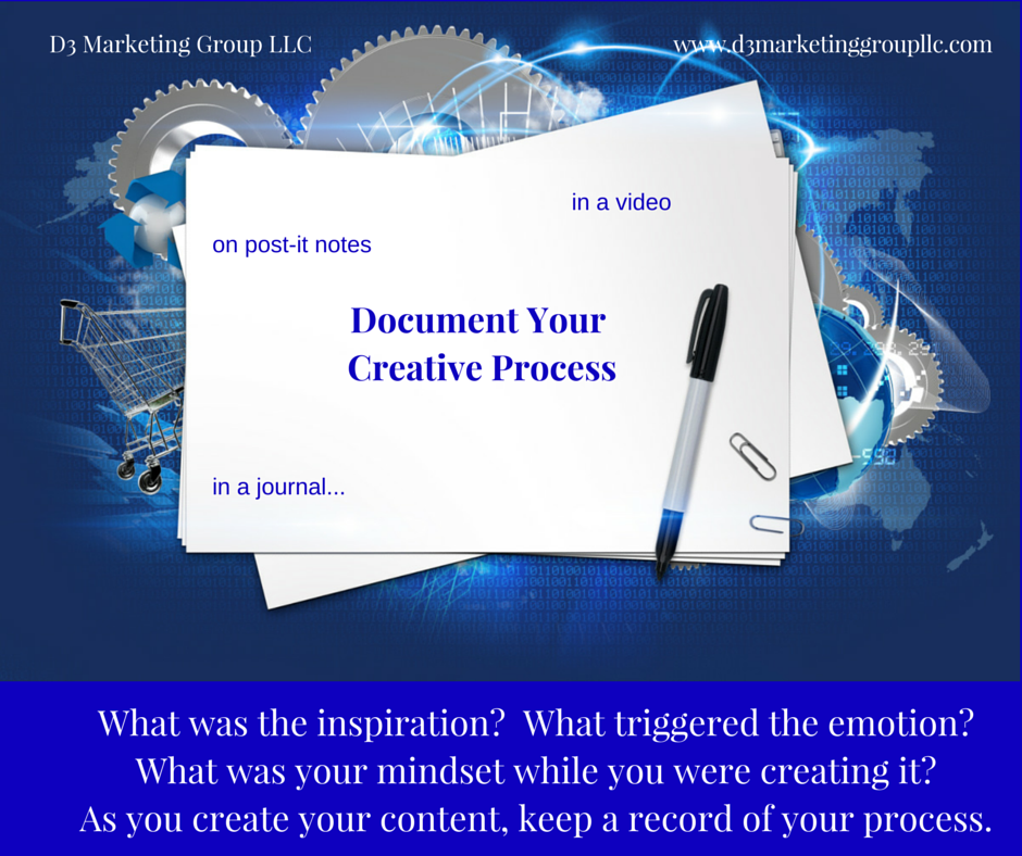 DO YOU KEEP A RECORD OF YOUR CREATIVE PROCESS?