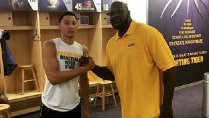 Shaq's been in Simmons' corner since his days at LSU .