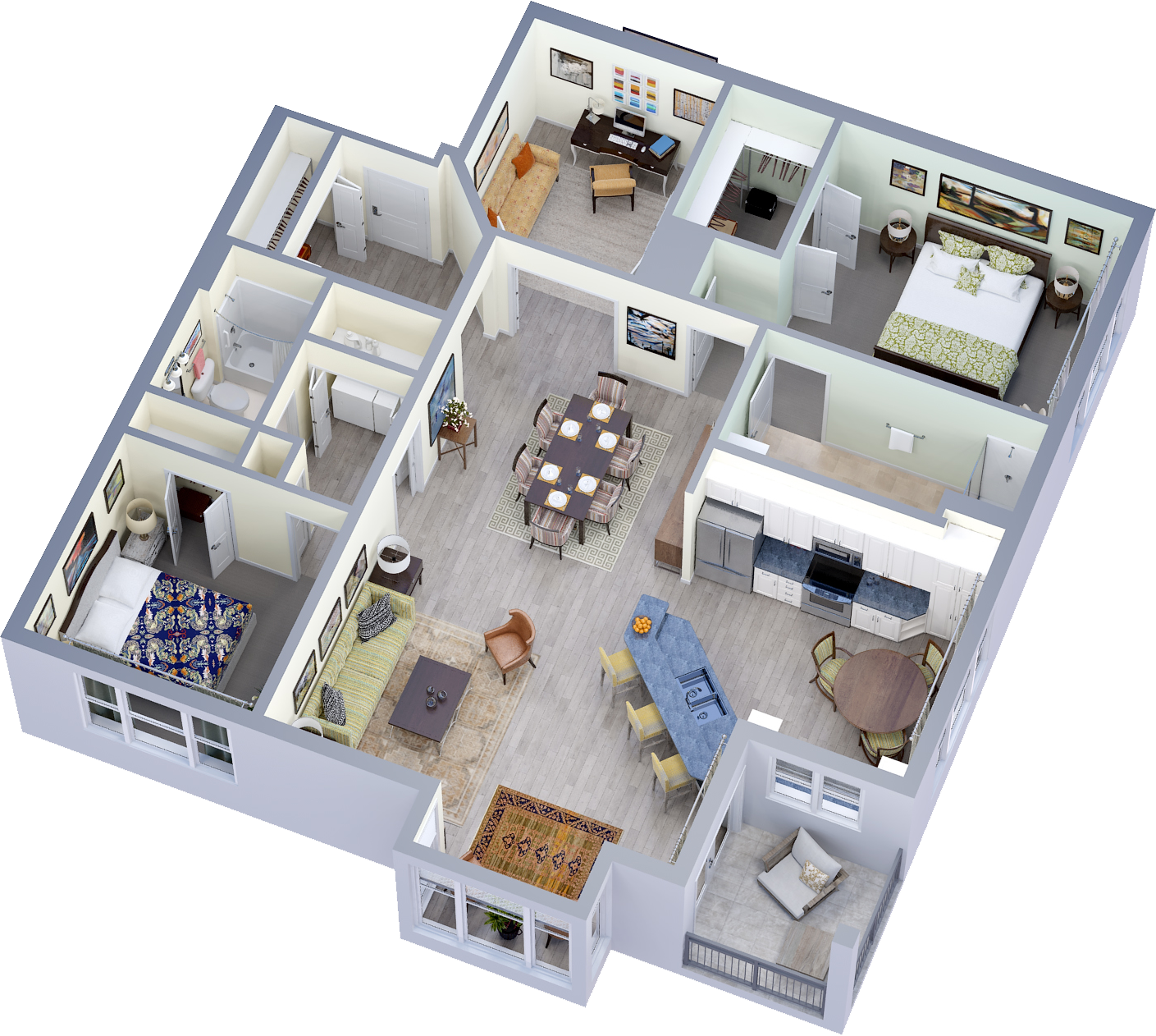 Summit Vista | Unit H61 Plan