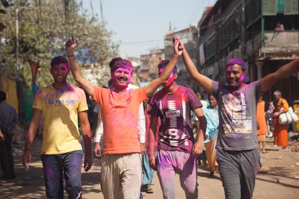 Holi festival women