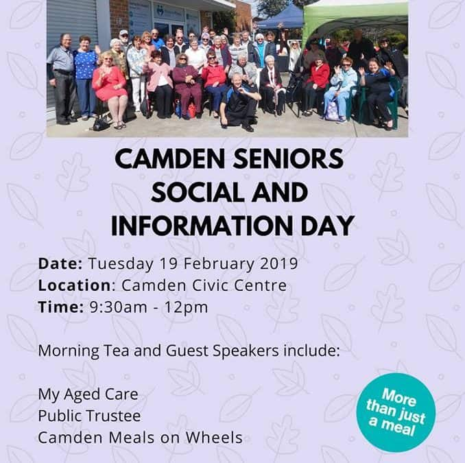 Camden Seniors Social and Information Day