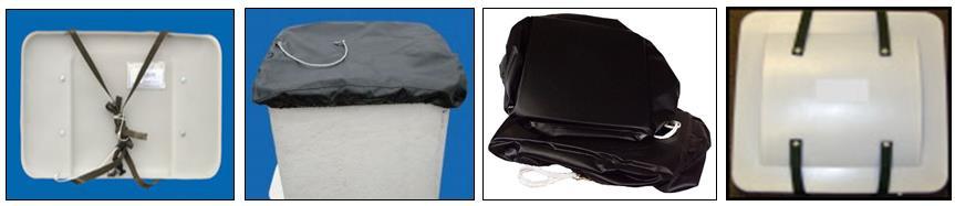 Fiberglass Cover, Vinyl Cover, Vinyl Cover with Foam, Plastic Cover