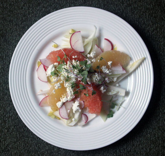 Crimson and White Citrus Salad
