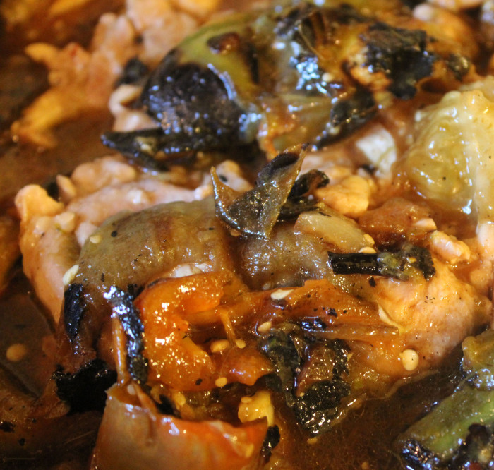 Braised Chicken with Tomatillos and Jalapenos