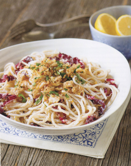 wc-Spaghetti-with-Radicchiio,-Ricotta,-and-Lemon-Garlic-Bread-Crumbs