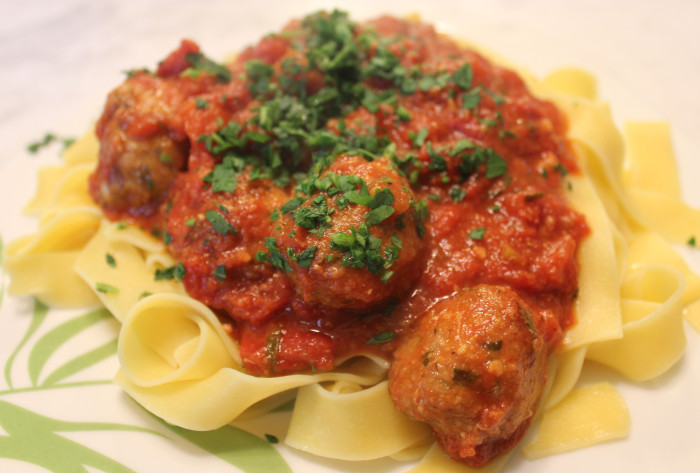 Veal and Gruyere Meatballs in Tomato Sauce from Lidgate's