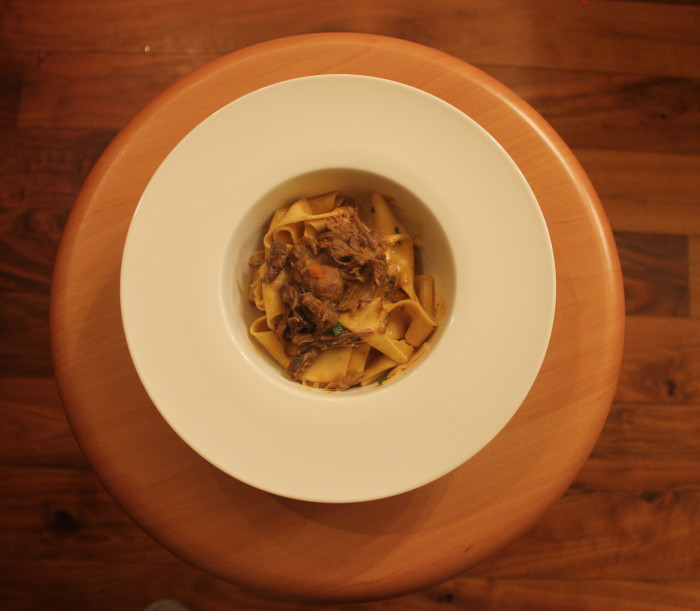 Pappardelle with Duck Ragu, Olives and Madeira