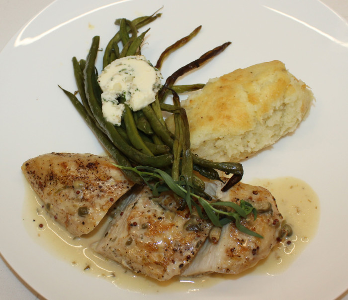 Chicken Breasts with Tarragon, Capers and White Wine from Patricia Wells