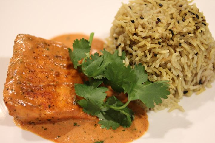Yellow Basmati Rice with Sesame Seeds