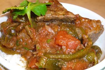 Poblano Chili con Carne from James Peterson