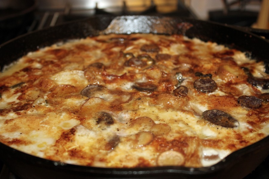 Cast Iron Potato Gratin
