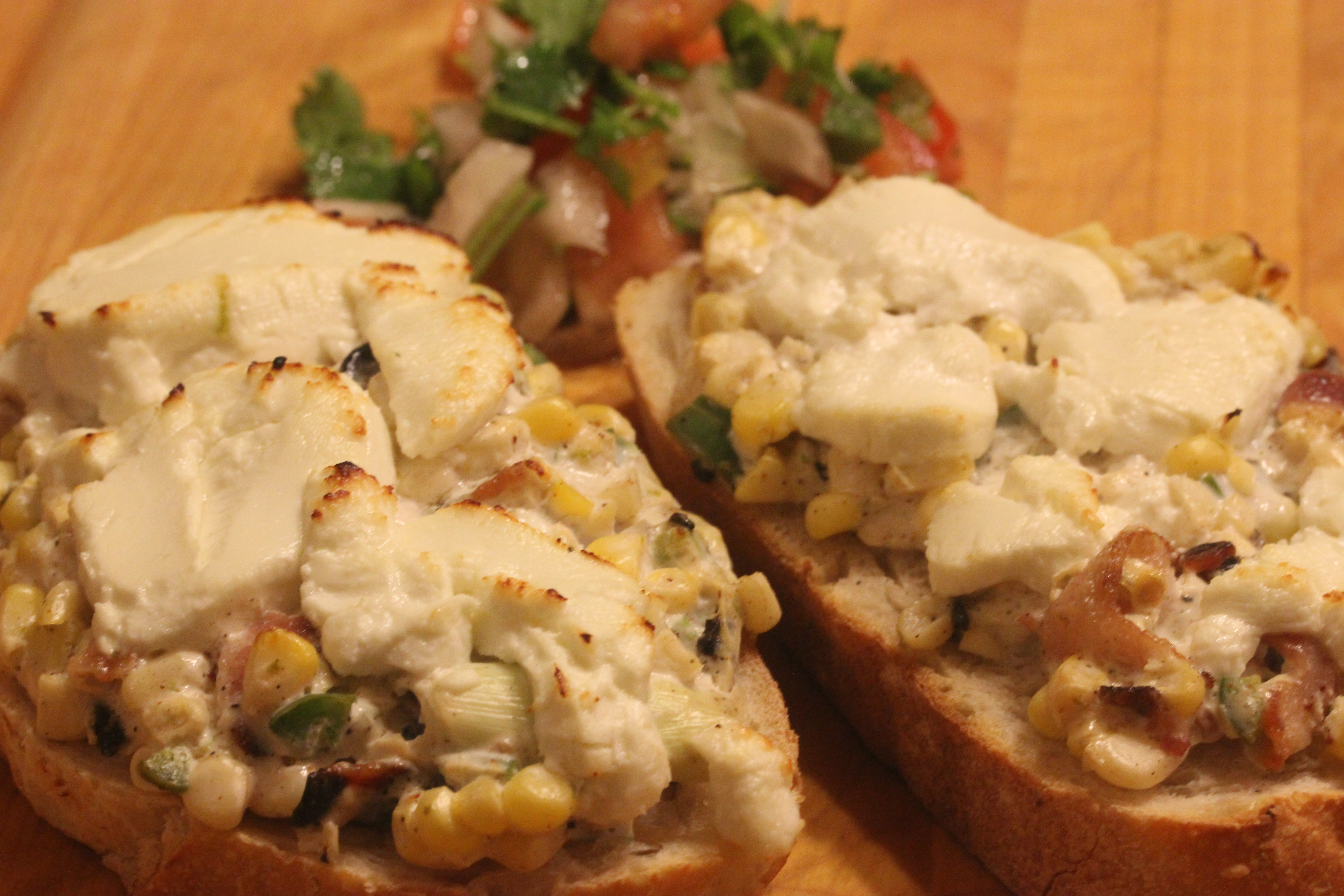 TBT Recipe: Corn, Jalapeño and Goat Cheese Tartine from Le Pain Quotidien
