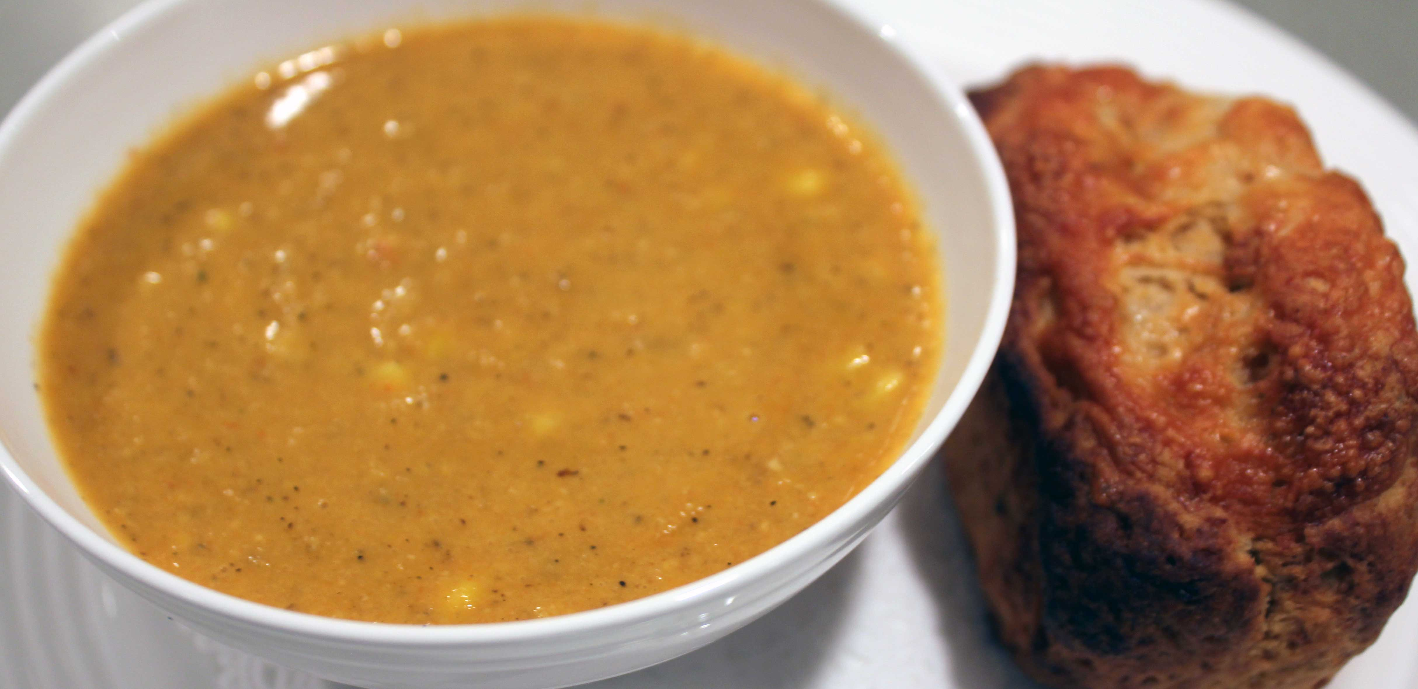 TBT Recipe: Smoky Roasted Corn Soup with Chipotle Chile