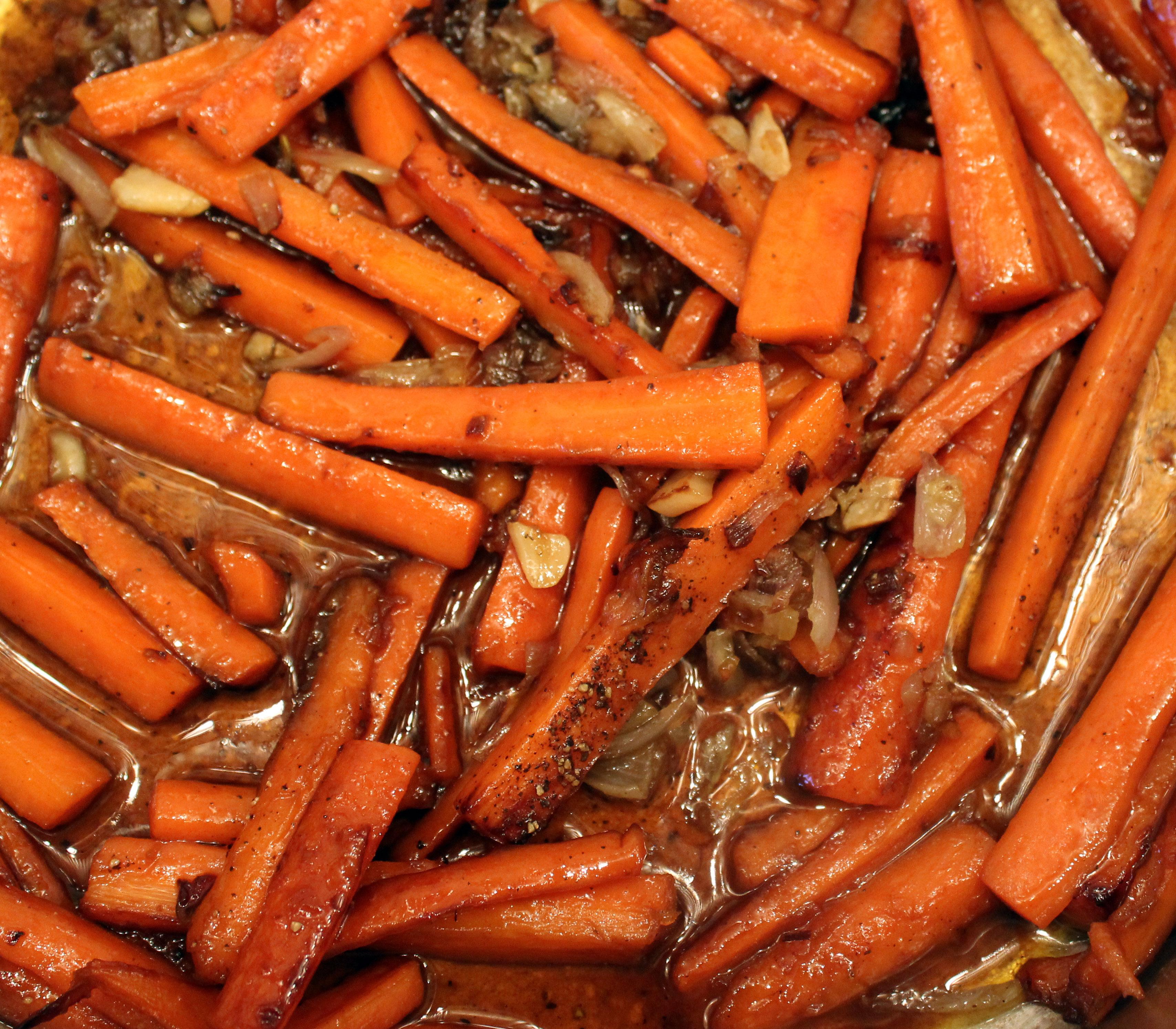 Bourbon-Ginger Glazed Carrots