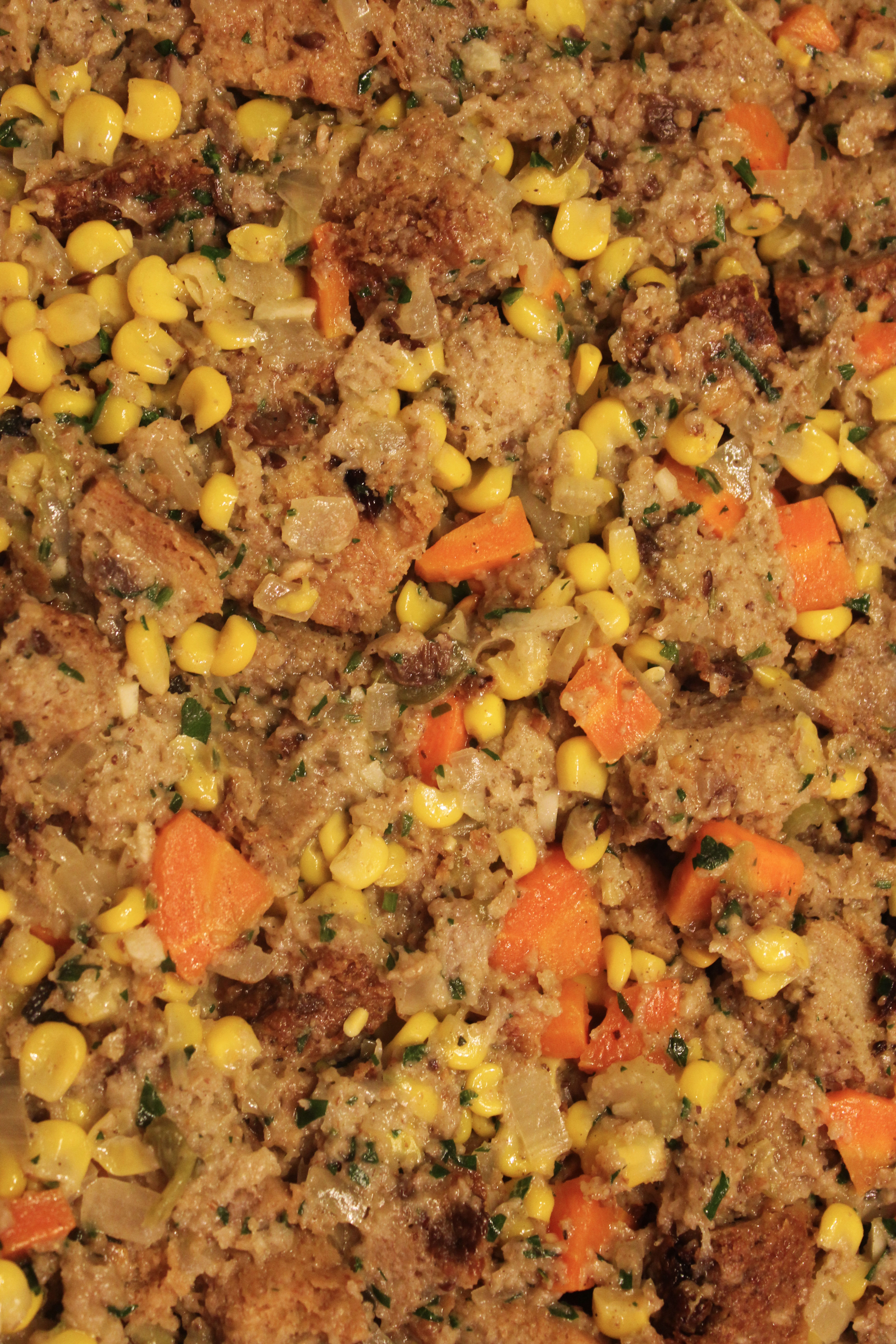 Thanksgiving Recipe: Thanksgiving Stuffing Ramped Up With Corn and Jalapenos